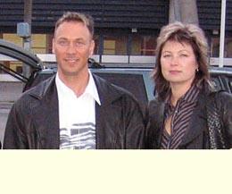 Janne ja Minna olivat tulleet seuraamaan Wrange Body SM kilpailua.