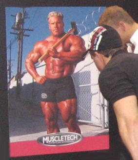 Mr. Olympia 2006 Jay Cutler tarkasteltavana Fitness Expossa