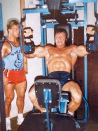 Andreas Cahling ja Jorma Räty, Gold`s Gymillä 1980