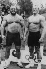 Legendat Bill Kazmaier ja Jon Pall Sigmarsson.