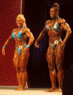 Suomen Maija Lehtonen Ms. Olympia kilpailussa