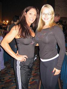 Fitness Olympiassa neljänneksi tullut aurinkoinen Tracey Greenwood.